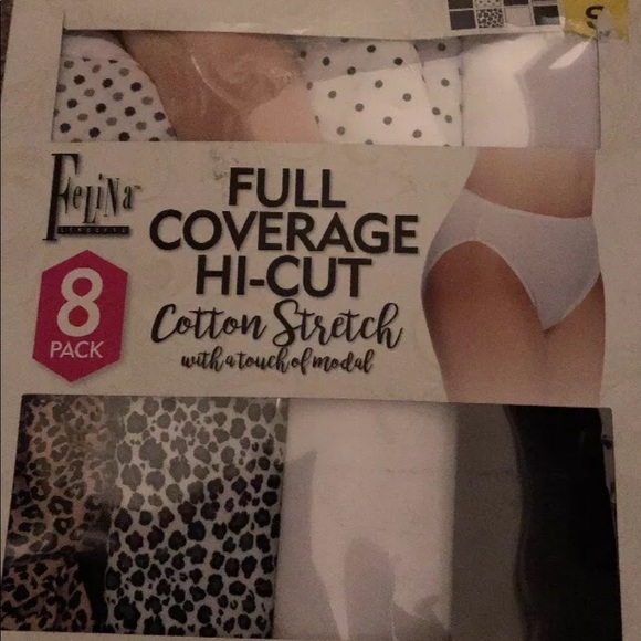 121bf614916b Felina Intimates & Sleepwear | 8 Pack Cotton Hi Cut Underwear Small ...